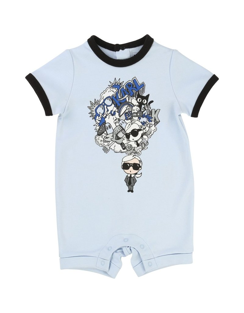 Karl Lagerfeld Kids Karl Lagerfeld Interlock short overalls