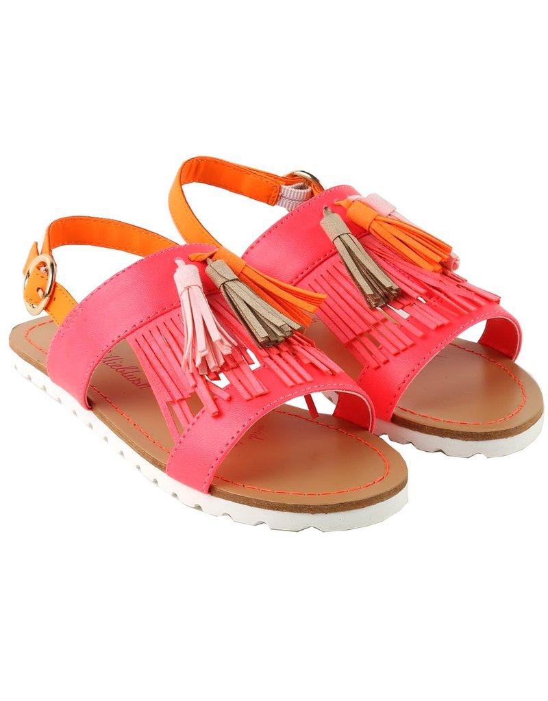 Billie Blush Billie Blush Sandals, fringed, buckled, pompom., ,