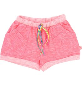 Billie Blush Billie Blush Heather jersey Shorts, string at the waist, elasticated waist, pockets.