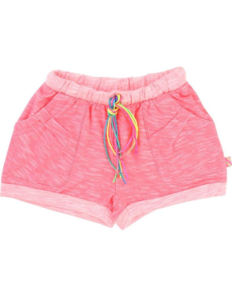 Billie Blush Billie Blush Heather jersey Shorts, string at the waist, elasticated waist, pockets.