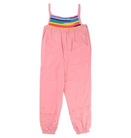 Billie Blush Billie Blush Cotton crepe Jumpsuit, patch on the front, zip side,pompom on the front.