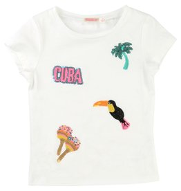 Billie Blush Billie Blush Cotton jersey tee shirt, sequin on the front, short sleeves