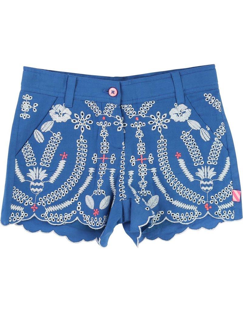 Billie Blush Billie Blush Embroidery Shorts, pockets, zip fly.