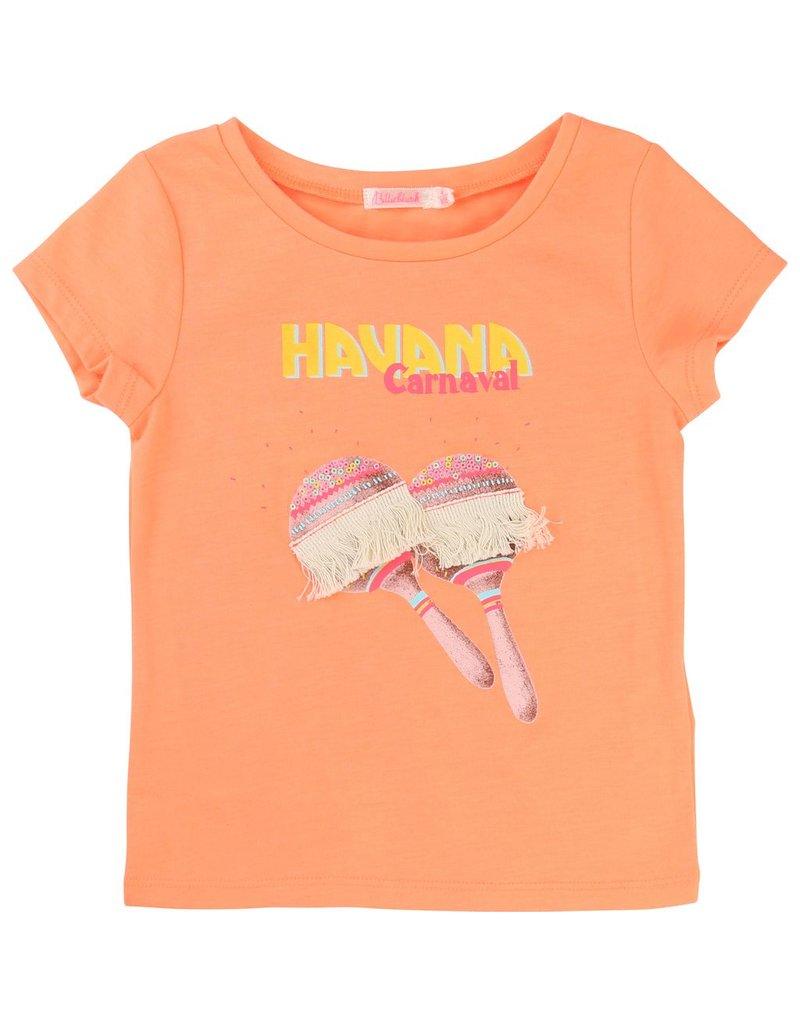 Billie Blush Billie Blush Jersey tee shirt, short sleeves, embroidery