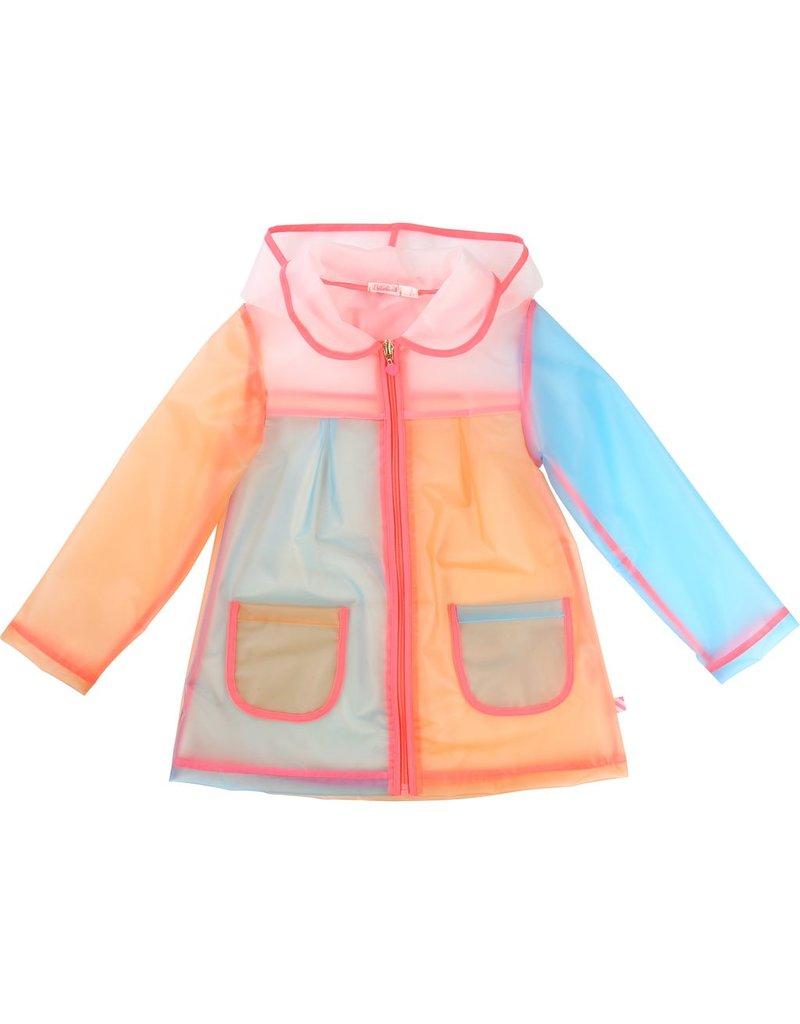 Billie Blush Billie Blush Raincoat, zip front