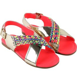 Billie Blush Billie Blush Sandals, braided trim, buckled., ,