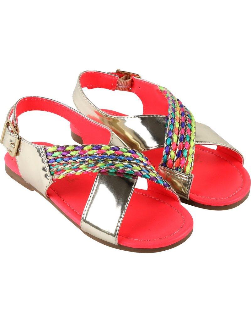 Billie Blush Billie Blush Sandals, braided trim, buckled., ,