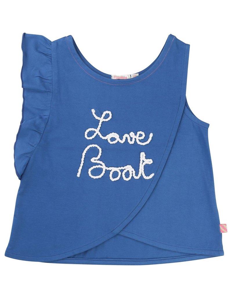 Billie Blush Billie Blush Cotton jersey Tee Shirt, asymmetric ruffles