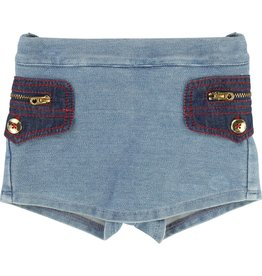 Little Marc Jacobs Little Marc Jacobs Fleece Shorts, denim effect