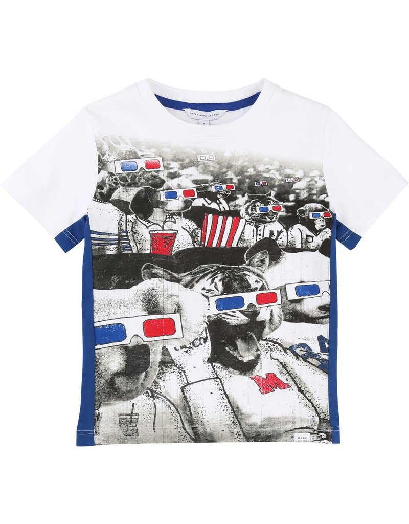 Little Marc Jacobs Little Marc Jacobs Jersey Tee Shirt, strip on one side