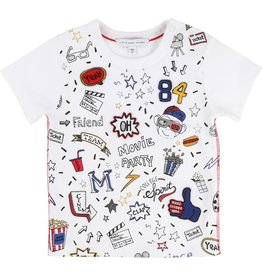 Little Marc Jacobs Little Marc Jacobs Jersey Tee Shirt, snap placket at shoulder