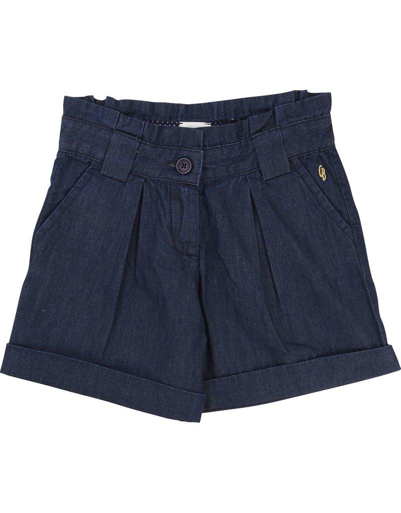 Carrement Beau Carrement Beau Cotton denim Shorts, pleated back
