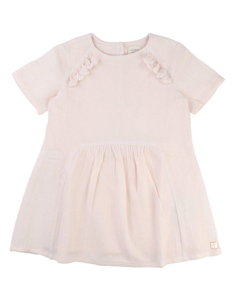 Carrement Beau Carrement Beau Cotton dress, pompoms on the front