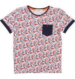 Billy Bandit Billy Bandit Tee Shirt, short sleeves, round neckline, pocket, all-over pattern.