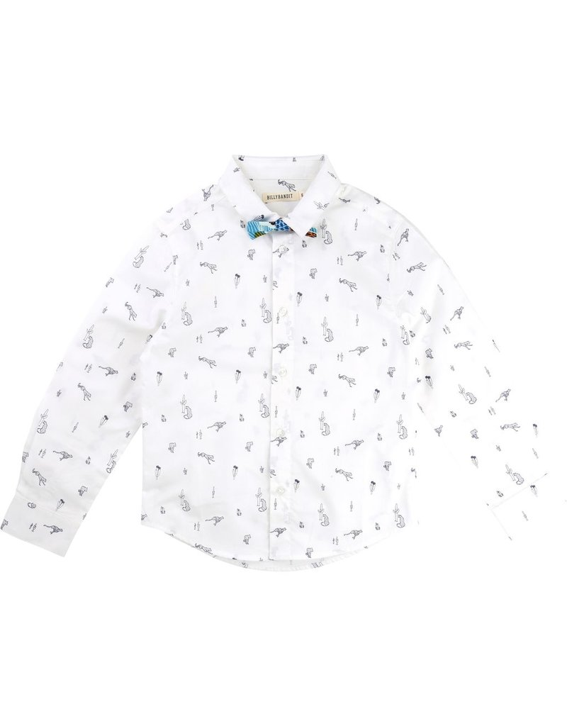 Billy Bandit Billy Bandit Cotton poplin Shirt with removable Bow Tie