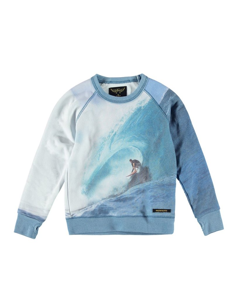 Finger in the Nose Finger in the Nose Hank Crew Wave Rider Sweatshirt