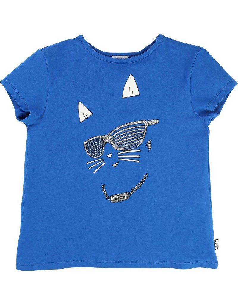 Karl Lagerfeld Kids Karl Lagerfeld Cotton Jersey tee-shirt with glitter