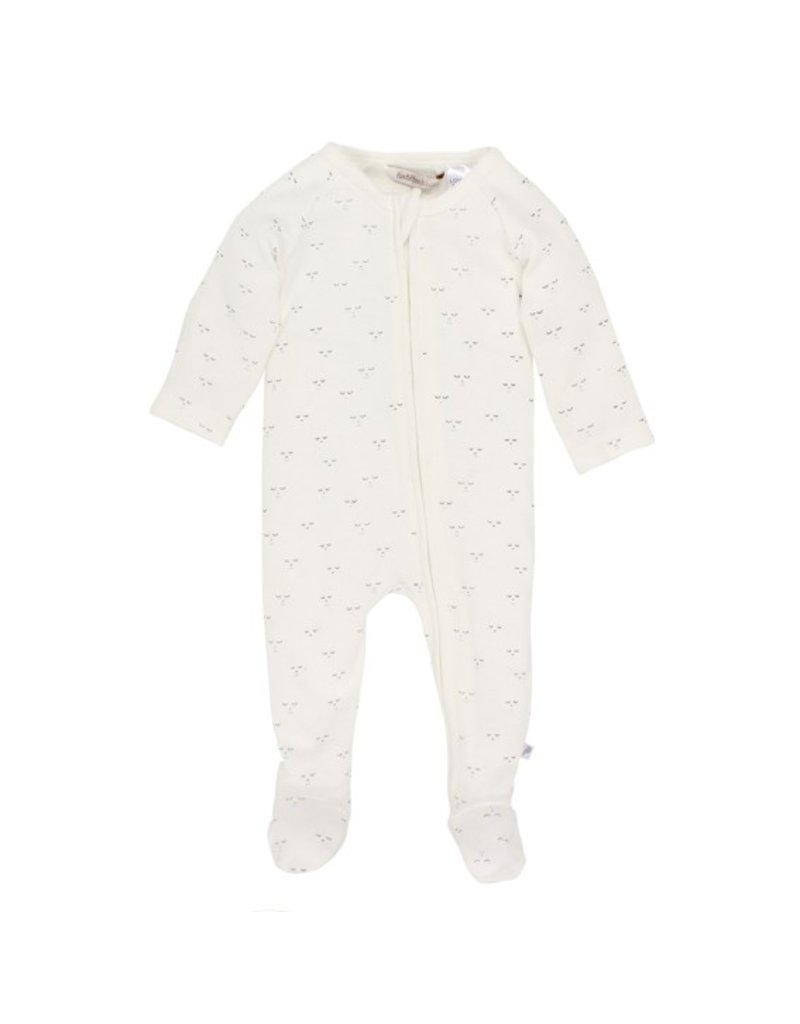 Fox & Finch Fox & Finch SMILE FRONT ZIP ROMPER