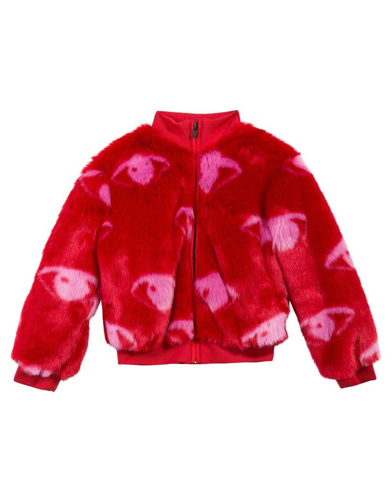 Kenzo Kenzo Faux Fur Bomber Jacket