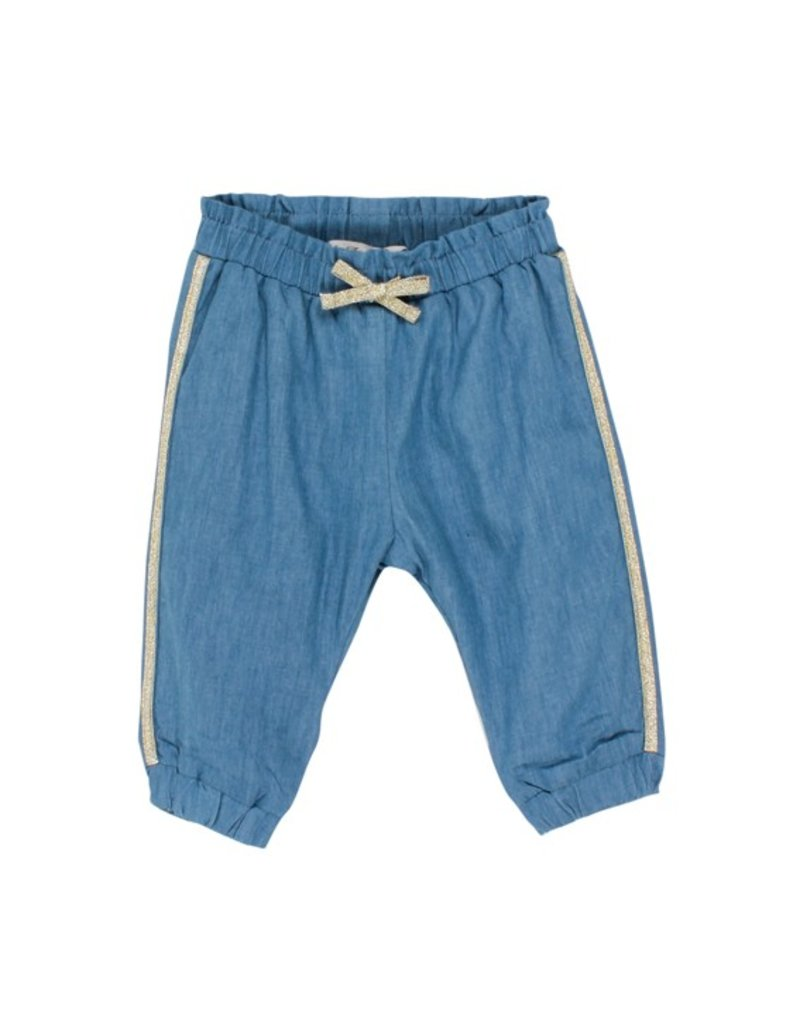 Fox & Finch Fox & Finch CHAMBRAY PANT W GOLD TRIM