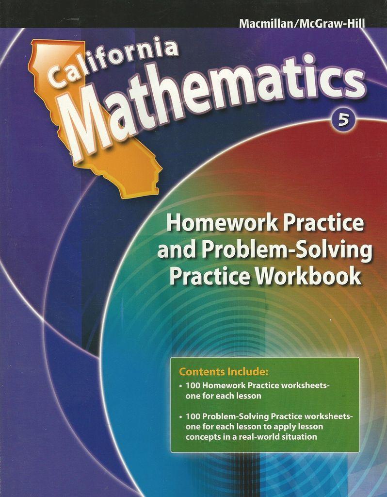 California Mathematics 5Th Grade Homework Practice And Problem ...