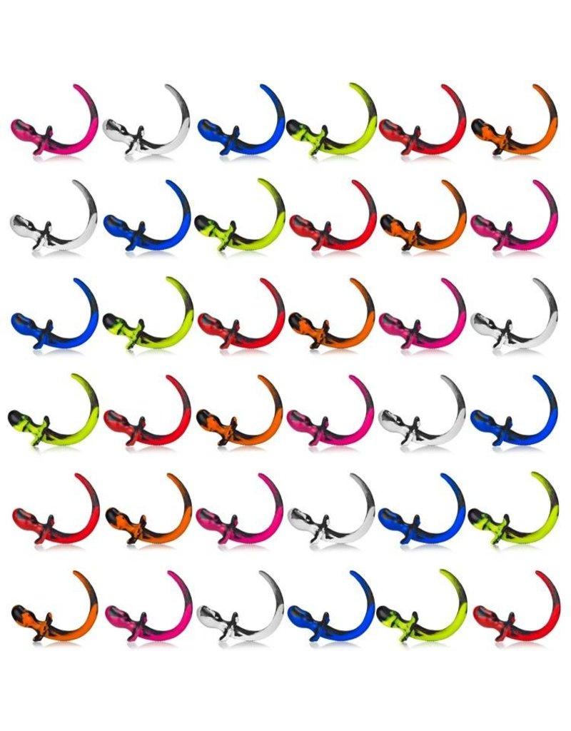 Color Swirl Silicone Puppy Tail