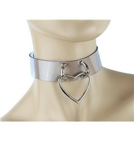 Clear Collar W/ Heart Ring