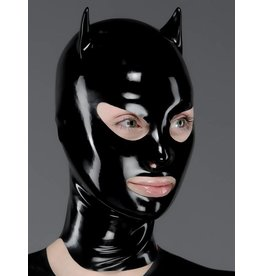 Open Mouth Latex Devil Hood