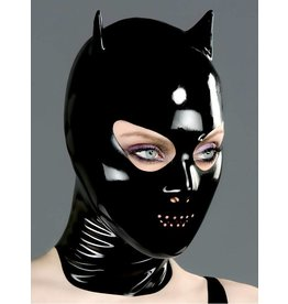 Perf. Mouth Latex Devil Hood