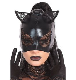 Lace & Wetlook Kitty Mask