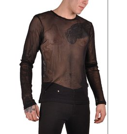 Long Sleeve Basic Fishnet Shirt
