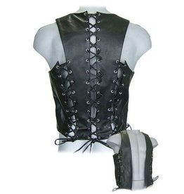 Front & Back Lace Cowhide Bar Vest