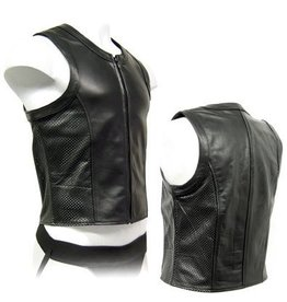 Perforated Leather Zip Vest