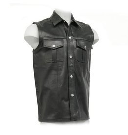 Sleeveless Leather Uniform Top