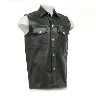 Sleeveless Leather Uniform Top