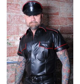 Leather Ss Military Shirt