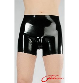 Latex Men's Shorts W/Pouch