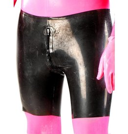 Latex Bermuda Shorts W/ 4-Zip