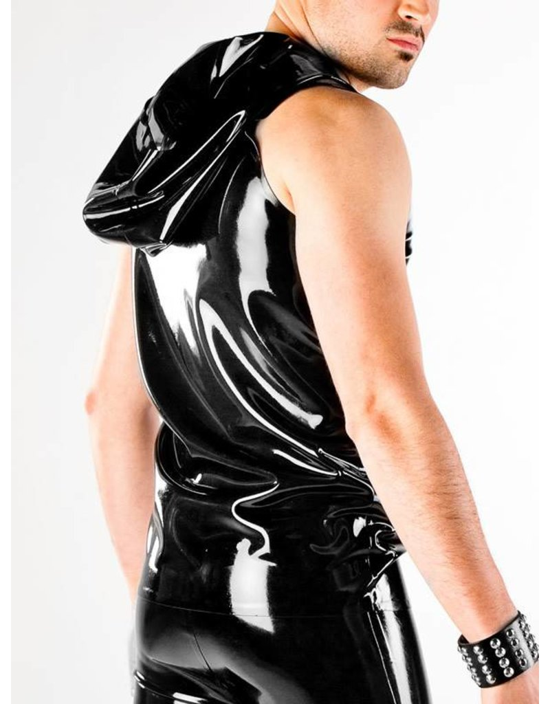 Latex Hooded Vest W/Zip