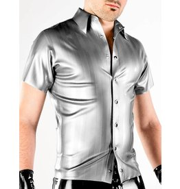 Striped Latex Ss Snap Shirt