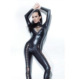 Front Lace Wetlook Catsuit