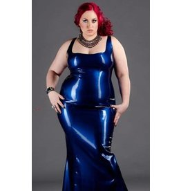 Polymorphe Marbled Latex Evening Gown