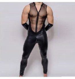 Men'S Mesh Sleeveless Catsuit