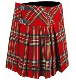 Faux Wool Plaid School Kilt