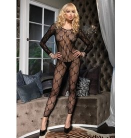 Ls Bow Lace Bodystocking