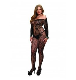 Spiral Lace Ls Bodystocking