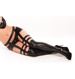 Wetlook Strap Stockings