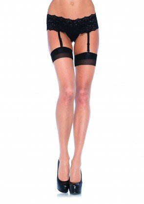 2 Tone Cuban Heel Seamed Stockings