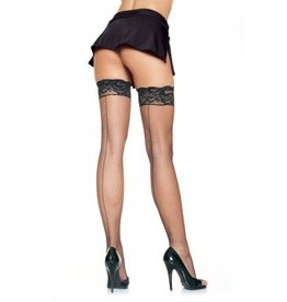 Stay-Up Fishnet Seamed Thigh Hi