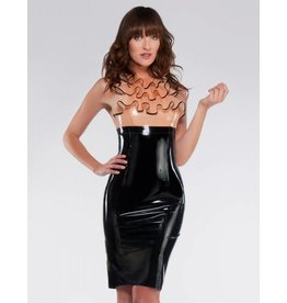 Latex Halter Dress W/Butterfly